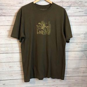Patagonia Brown Cotton T-shirt Size Large